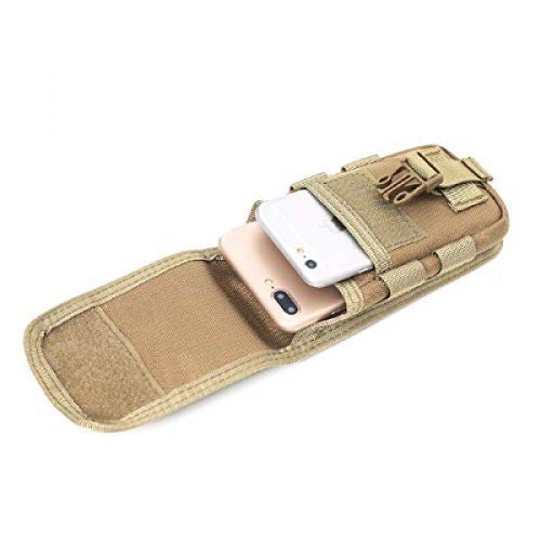 Azarxis Tactical Pouch 4 Azarxis Tactical Cell Phone Holster Pouch, Tactical Smartphone Pouches EDC Cellphone Case Molle Gadget Bag Molle Attachment Belt Holder Waist Bag
