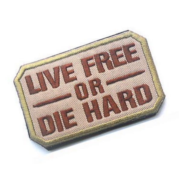 Embroidery Patch Airsoft Morale Patch 2 Live Free Or Die Hard Military Hook Loop Tactics Morale Embroidered Patch (color2)