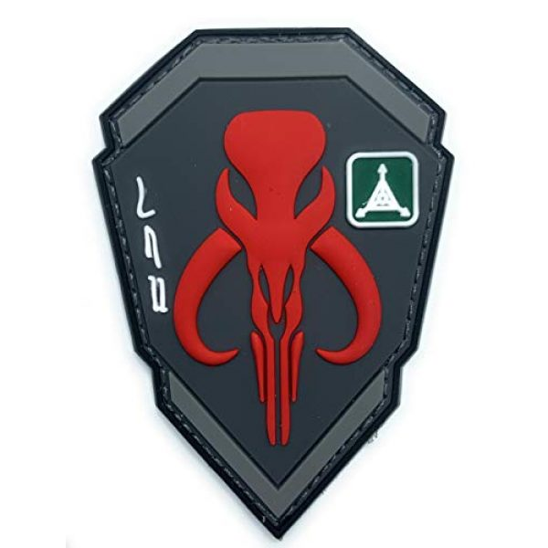 Almost SGT Airsoft Morale Patch 1 Boba Fett Emblem Star Wars Bounty Hunter - Funny Tactical Military Morale PVC Rubber Patch Hook Backing(Red)