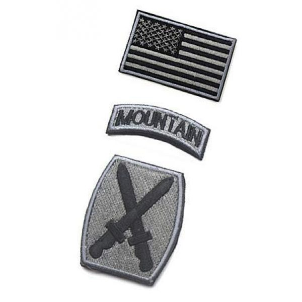 Embroidery Patch Airsoft Morale Patch 3 3 Pieces US Army 10th Mountain Division Military Hook Loop Tactics Morale Embroidered Patch(color1)