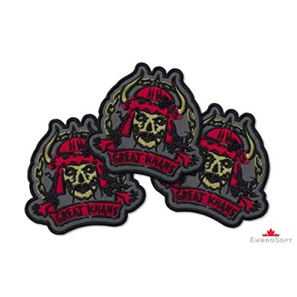 """Embrosoft Airsoft Morale Patch 2 Fallout New Vegas Great Khans Gang Emblem Embroidered Patch Iron On (3.5"""" x 3.3"""")"""