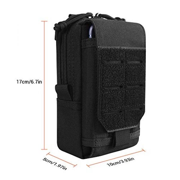 XYAM Tactical Pouch 2 XYAM Tactical Molle Pouch Military Waist Bag Outdoor Men Tool Bag Vest Pack Purse Mobile Phone Case Hunting Compact Bag(Black)