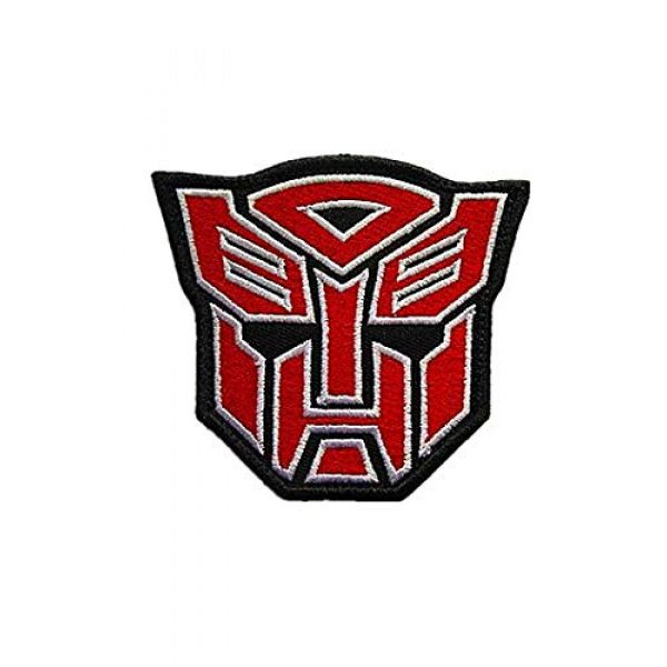 Embroidery Patch Airsoft Morale Patch 1 Superhero Transformers Autobot Military Hook Loop Tactics Morale Embroidered Patch (color1)