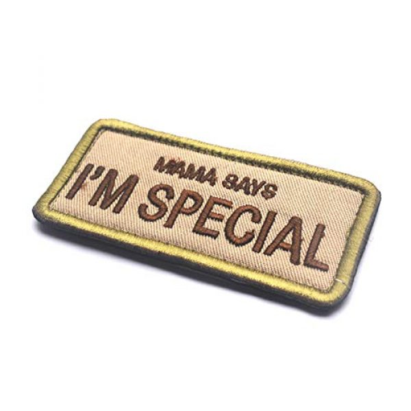 CREATOR Airsoft Morale Patch 3 Mama Says I'm Special Tactical Patch Military Embroidered Hook & Loop Patch for Men, Children and Pets