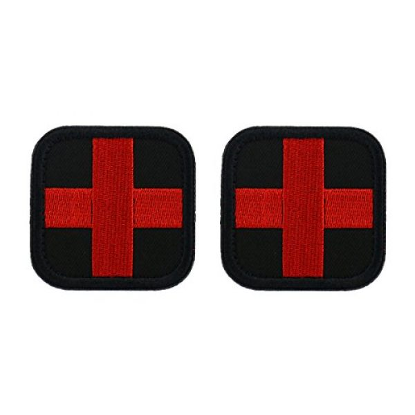 Bausweety Airsoft Morale Patch 1 Bausweety Medic Cross Tactical Patch 2 Pieces