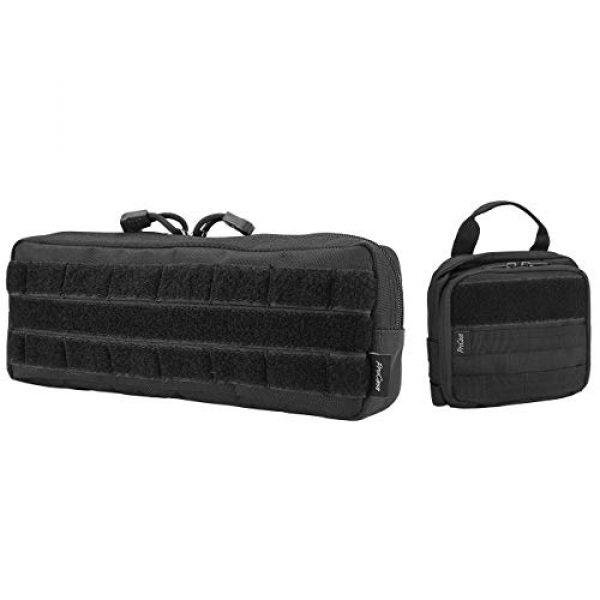 ProCase Tactical Pouch 1 ProCase Tactical Admin Pouch Versatile Molle Admin Pouch EDC Carry Bag Multi-Purpose Tool Holder Bundle with Compact EDC Military Admin Utility Gadget Waist Bag
