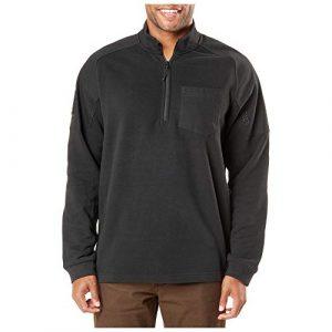 5.11 Tactical Shirt 1 5.11 Tactical Men's Radar Fleece Half Zip Shirt, Long Sleeves, Cotton-Polyester, Drop Tail, Style 72102