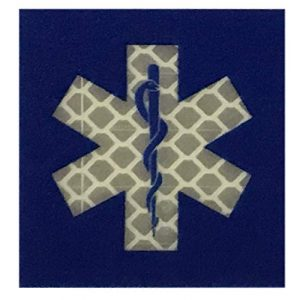F-Bomb F Morale Gear Airsoft Morale Patch 1 Star of Life - Dual Reflective/Glow in The Dark - Tactical Morale Patch with Hook-Fastener Backing (Blue)