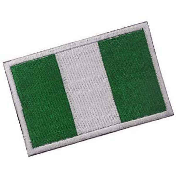 Embroidery Patch Airsoft Morale Patch 2 Nigerian Flag Patch Military Hook Loop Tactics Morale Embroidered Patch