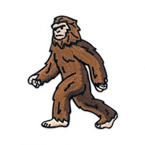 Winks For Days Airsoft Morale Patch 1 Winks For Days Bigfoot Sasquatch Embroidered Iron-On Patch