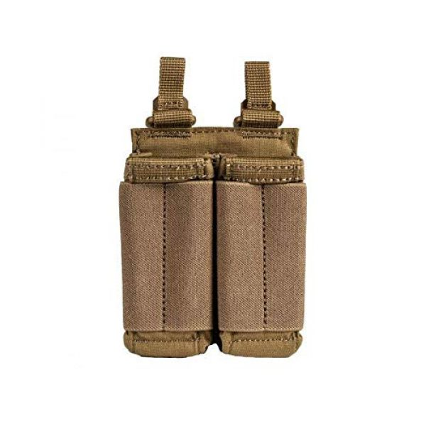 5.11 Tactical Pouch 1 5.11 Tactical Flex Double Pistol Mag Lightweight Pouch, Style # 56425, Kangaroo
