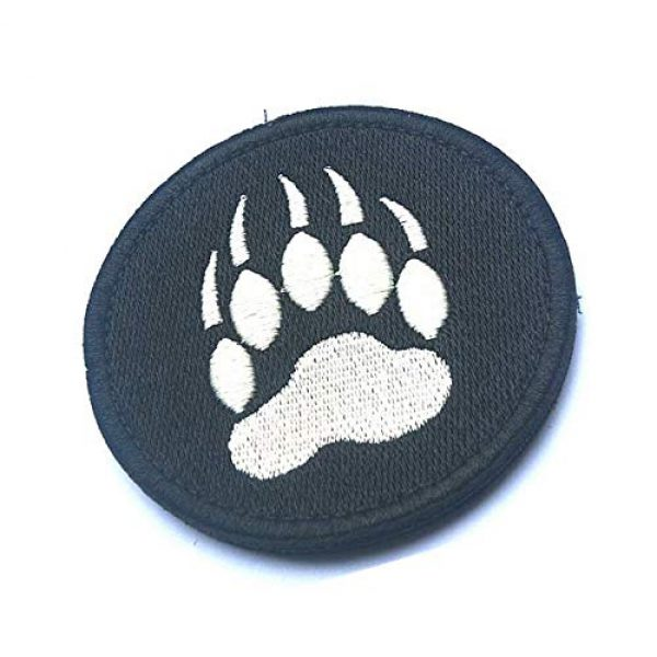 Embroidery Patch Airsoft Morale Patch 2 Bear Claw Tracker PAW Military Hook Loop Tactics Morale Embroidered Patch