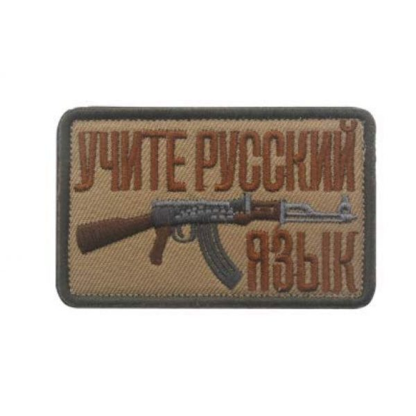 Embroidered Patch Airsoft Morale Patch 1 Soviet Russian AK 47 Kalashnikov Shell Rifle Gun Assault Army Battle 3D Tactical Patch Military Embroidered Morale Tags Badge Embroidered Patch DIY Applique Shoulder Patch Embroidery Gift Patch