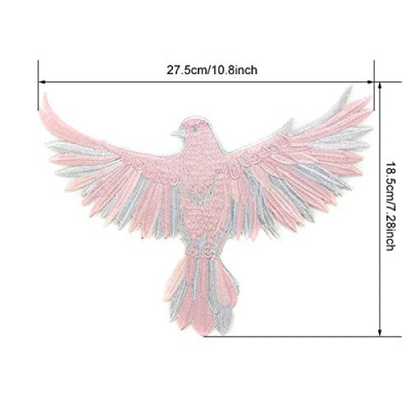 ZLYY Airsoft Morale Patch 4 Perfect Morale Eagle Embroidery Patch Design Jacket Patches Biker Iron Patch (Pink,White,Black)