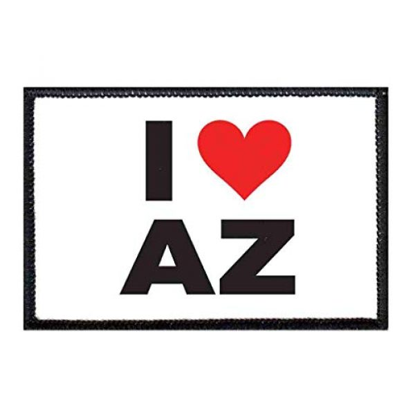P PULLPATCH Airsoft Morale Patch 1 I Love Arizona Bold Morale Patch   Hook and Loop Attach for Hats, Jeans, Vest, Coat   2x3 in   by Pull Patch