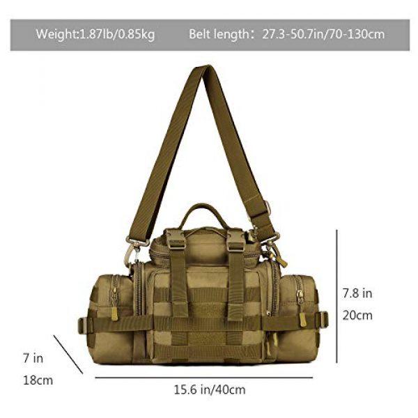 ArcEnCiel Tactical Pouch 3 ArcEnCiel Tactical Duffle Bag Fishing Fanny Pack Range Bags Men Gym Military Molle Shoulder Bags Waist Camera Sports Handbag