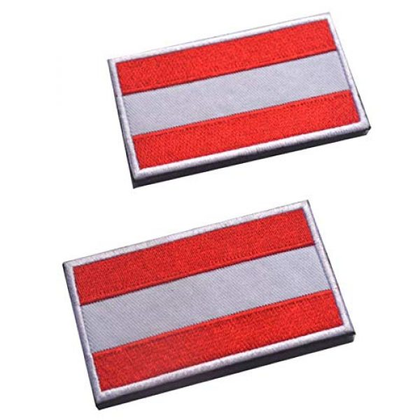 Tactical Embroidery Patch Airsoft Morale Patch 1 2pcs Austria Flag Embroidery Patch Military Tactical Morale Patch Badges Emblem Applique Hook Patches for Clothes Backpack Accessories