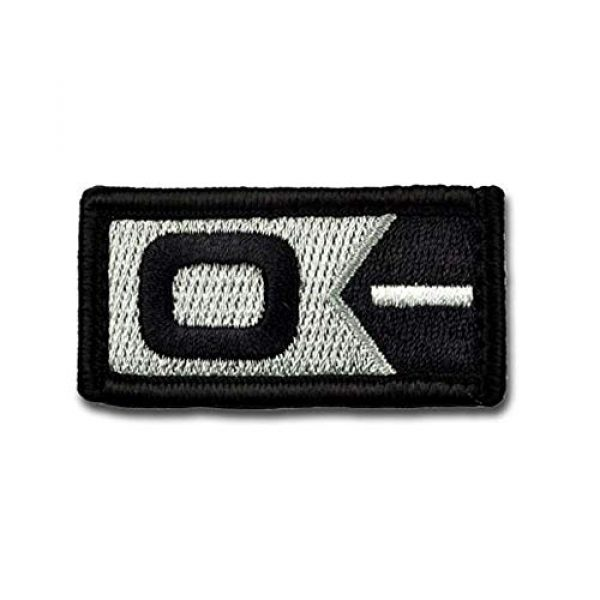 BASTION Airsoft Morale Patch 1 BASTION Morale Patches (Blood Type O Neg, BNW)   3D Embroidered Patches with Hook & Loop Fastener Backing   Well-Made Clean Stitching   Military Patches for Tactical Bag, Hats & Vest