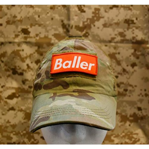 BritKitUSA Airsoft Morale Patch 2 BritKitUSA Baller Woven Morale Patch Supreme Playa OAF Tactical Cap Operator Hook Loop Backing