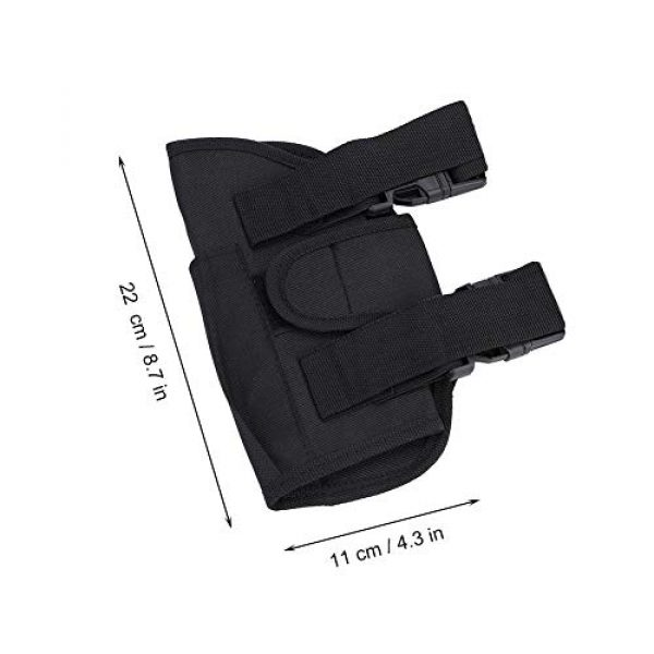 Alomejor Airsoft Holster 3 Leg Bag Kids Tactical Leg Holster Kit with Dart Pouch Toy Holster Holder for Outdoor Hiking Cycling