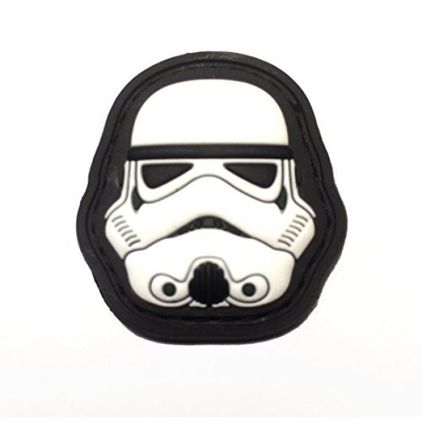 """Empire Tactical USA Airsoft Morale Patch 1 1.5 X 1.5"""" Mini 3d PVC First Order Gitd Glow in the Dark Stormtrooper Helmet Morale hook/loop Patch"""