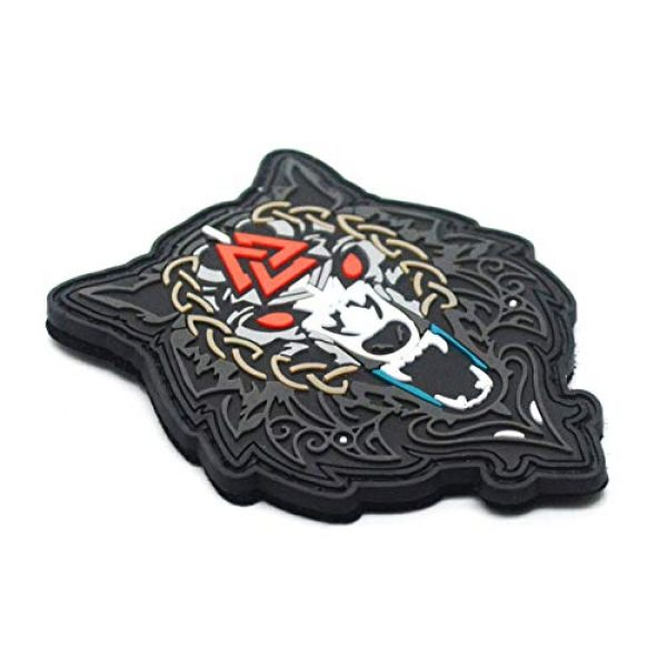 King Kong Somersault Airsoft Morale Patch 5 Viking Wolf of Odin Valknut PVC Morale Tactical Badge Patch