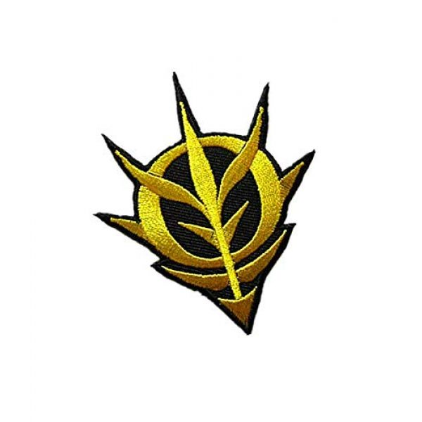 Embroidery Patch Airsoft Morale Patch 2 Mobile Suit Gundam -Zeon Military Hook Loop Tactics Morale Embroidered Patch (color1)
