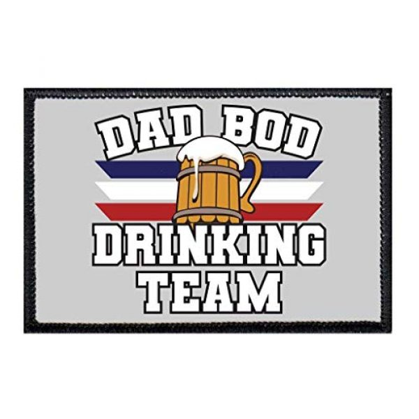 P PULLPATCH Airsoft Morale Patch 1 Dad BOD Drinking Team Stripes Morale Patch   Hook and Loop Attach for Hats, Jeans, Vest, Coat   2x3 in   by Pull Patch