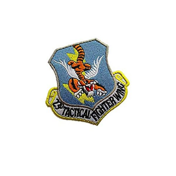 Embroidery Patch Airsoft Morale Patch 2 USAF 23rd Tactical Fighter Wing Military Tactics Morale Embroidered Patch