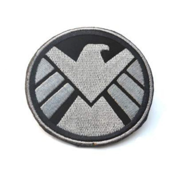 Tactical Embroidery Patch Airsoft Morale Patch 1 Marvel Comics Avenger Agents of The Shield Crest Embroidery Patch Military Tactical Morale Patch Badges Emblem Applique Hook Patches for Clothes Backpack Accessories