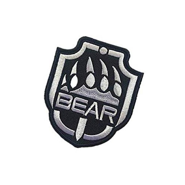 Embroidery Patch Airsoft Morale Patch 3 Escape from Tarkov Bear Military Hook Loop Tactics Morale Embroidered Patch