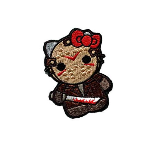 Embroidery Patch Airsoft Morale Patch 2 Hello Kitty As Warrior Military Hook Loop Tactics Morale Embroidered Patch