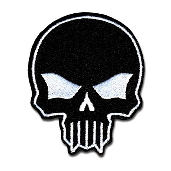 BASTION Airsoft Morale Patch 1 BASTION Morale Patches (Bastion Skull, Black) | 3D Embroidered Patches with Hook & Loop Fastener Backing | Well-Made Clean Stitching | Christian Patches for Tactical Bag, Hats & Vest