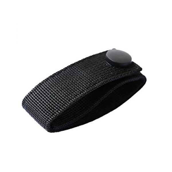 """Aolamegs Tactical Pouch 2 Aolamegs (2 Pack Nylon Handcuff Strap Holder,Handcuff Case,Single Snap,Slide-On fits 2 1/4"""" in Belts,Black,"""
