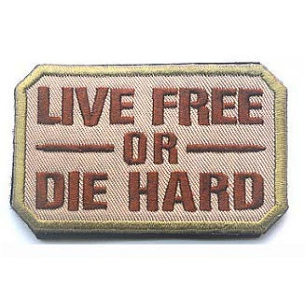 Embroidery Patch Airsoft Morale Patch 1 Live Free Or Die Hard Military Hook Loop Tactics Morale Embroidered Patch (color2)