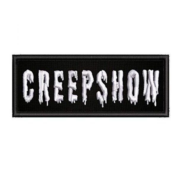 """Appalachian Spirit Airsoft Morale Patch 1 Creepshow Horror Movies - 4"""" W x 1.5"""" T - Embroidered DIY Iron on or Sew-on Decorative Patch Badge Emblem Classic Retro Campy Cult Creatures Monster Vault Series Applique"""