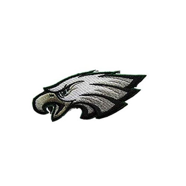 Embroidery Patch Airsoft Morale Patch 2 National Football League Eagles Logo Military Hook Loop Tactics Morale Embroidered Patch
