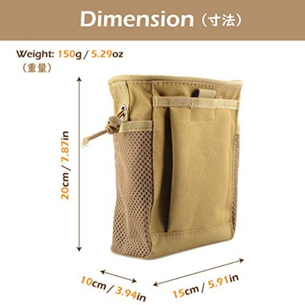 TRIWONDER Tactical Pouch 2 TRIWONDER Molle Drawstring Magazine Dump Pouch Tactical EDC Utility Fanny Hip Holster Bag Waist Bag Military Bag Outdoor Ammo Pouch