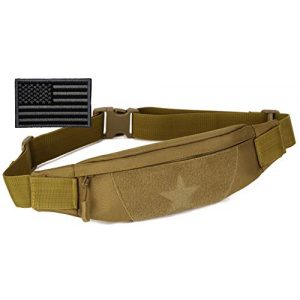 Protector Plus Tactical Pouch 1 Protector Plus Tactical Running Waist Pack Belt Military Fitness Fanny Bag Sling Hip Bumbag MOLLE Army Lumbar Gear Pocket (Patch Included)