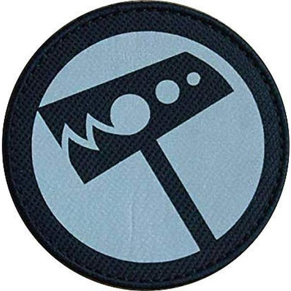 """Embroidery Patch Airsoft Morale Patch 1 SCP Foundation Special Containment Procedures Foundation SCP Mobile Task Forces Nu-7 Hammer Down"""" Military Hook Loop Tactics Morale Reflective Patch"""
