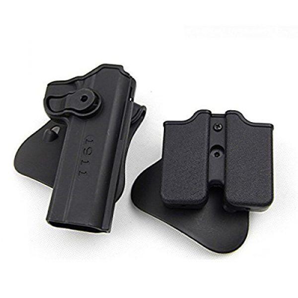 AUKMONT Tactical Pouch 2 AUKMONT Tactical Retention Roto Paddle Holster & Double Magazine Pouch for PT1911