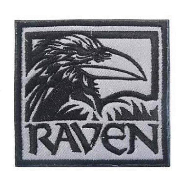 Embroidery Patch Airsoft Morale Patch 1 Raven Military Hook Loop Tactics Morale Embroidered Patch (color2)