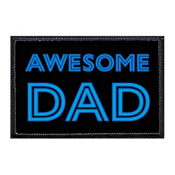 P PULLPATCH Airsoft Morale Patch 1 Awesome Dad   Hook and Loop Attach for Hats, Jeans, Vest, Coat   2x3 in   by Pull Patch