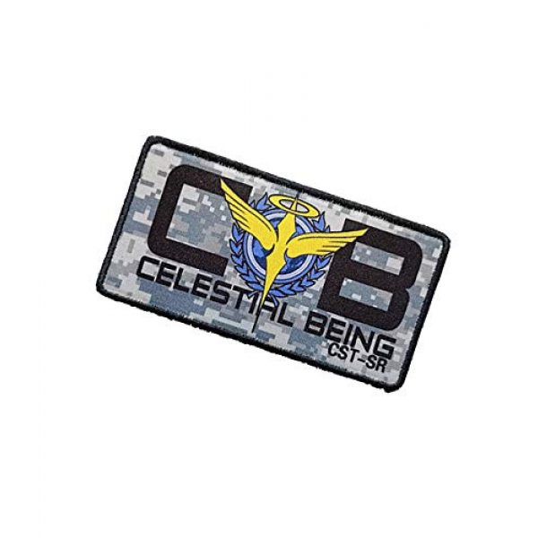 Fine Print Patch Airsoft Morale Patch 3 Mobile Suit Gundam Celestial Being Patch Military Hook Tactics Morale Patch