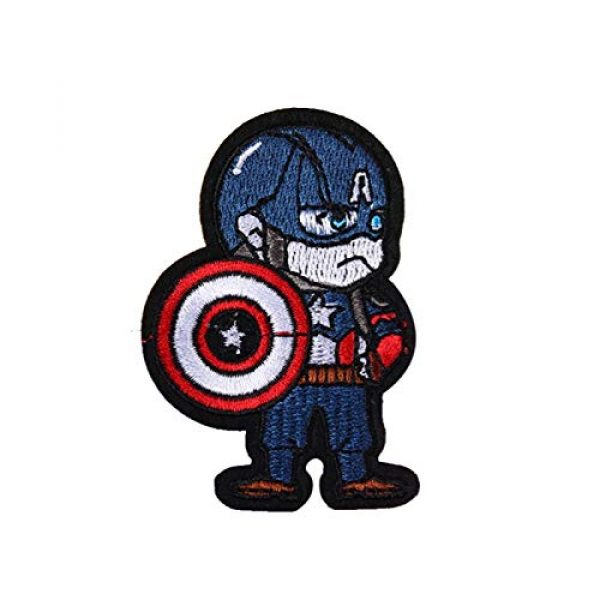 GODNICE Airsoft Morale Patch 1 Captain America lron on Patches, Morale Patches for Clothing Jeans Jackets Backpack Repair, Aesthetic Super Hero Iron on Decals Embroidery Cloth (Captain America1)