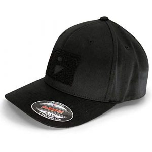 P PULLPATCH Tactical Hat 1 Pull Patch Tactical Hat, Baseball Cap | Authentic Snapback XL/XXL Premium Curved Bill | 2x3 in Hook and Loop Surface to Attach Morale Patches | 6 Panel | Black | Free US Flag Patch Included