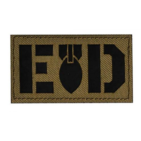 Embroidered Patch Airsoft Morale Patch 2 3pc EOD Infrared Reflective IR Special Forces 3D Tactical Patch Military Embroidered Morale Tags Badge Embroidered Patch DIY Applique Shoulder Patch Embroidery Gift Patch