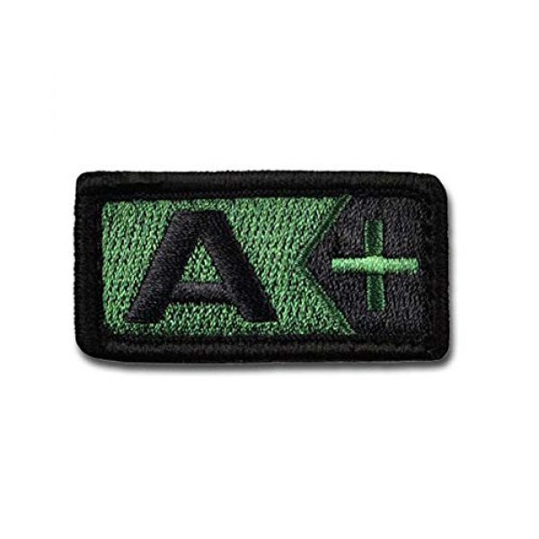 BASTION Airsoft Morale Patch 1 BASTION Morale Patches (Blood Type A Pos, ODG)   3D Embroidered Patches with Hook & Loop Fastener Backing   Well-Made Clean Stitching   Military Patches for Tactical Bag, Hats & Vest