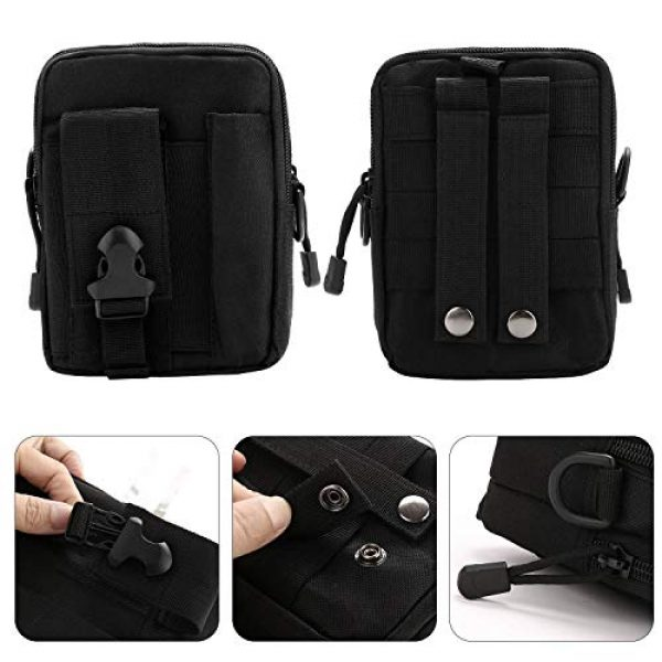 DOUN Tactical Pouch 2 DOUN Outdoor Tactical Waist Bag Multi-Purpose EDC Molle Pouch Small Shoulder Bag Strap Phone Purse Holster for iPhone XR iPhone 8 Plus Galaxy S9 S10