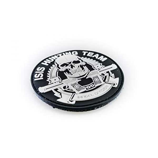 """Tactical Innovations Canada Airsoft Morale Patch 2 Tactical Innovations Canada PVC Morale Patch - ISIS Hunting Team 3"""" Dia -Blk & Wht"""
